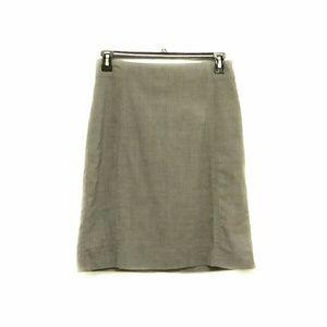 Banana Republic Size 6 Gray Midi Skirt